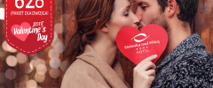 Valentine's Day  - 1 night B&B plus Romantic Dinner from 310zł pps!