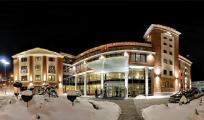 Hotel fronton zimą